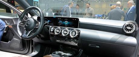 Noul A-Class si-a luat ecranele de 10 inch si a venit la Geneva ca sa arate ca e mai tare ca Audi A3 si BMW Seria 1. FOTO