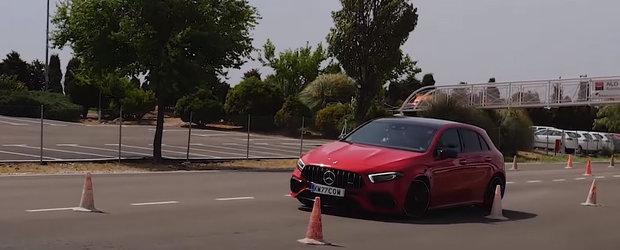 Noul A45 S pe lista rusinii. Hot hatch-ul suprem de la Mercedes-AMG a picat testul elanului
