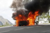 Noul Audi A7 a luat foc in teste