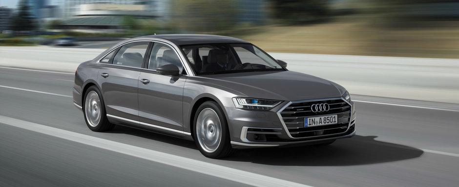 """Noul Audi A8, """"viitorul limuzinelor de lux"""", este disponibil pentru precomanda. Pleaca de la 90.600 de euro"""