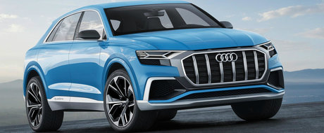 Noul Audi Q8 a fost surprins fara camuflaj in Rusia. Uite cum arata, de fapt, rivalul lui BMW X6