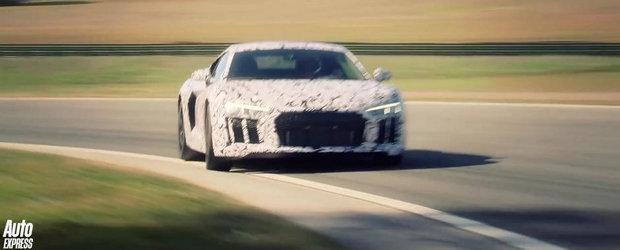 Noul Audi R8 da buzna pe circuit, suna... aproape perfect