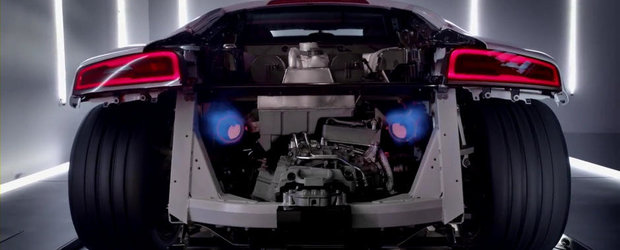Noul Audi R8 V10 Plus urca pe dyno, scuipa flacari pe evacuare