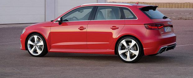 Noul Audi RS3 ofera 367 CP, devine cel mai puternic hot-hatch al planetei