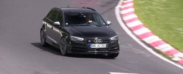 Noul Audi RS3 Sportback, surprins pentru prima oara in actiune