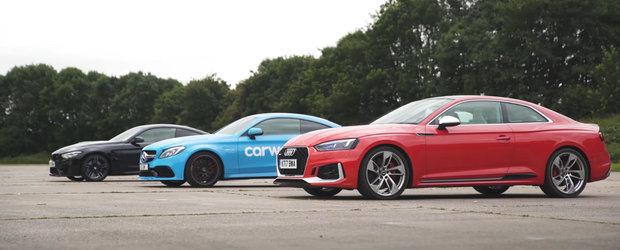 Noul Audi RS5 si-a intalnit in sfarsit principalii rivali de la Mercedes si BMW. Cum s-a descurcat