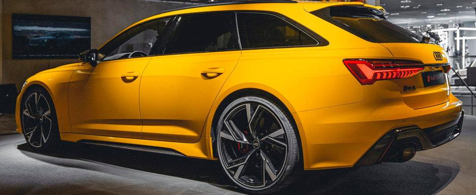 Noul Audi RS6 Avant, asa cum probabil nu o sa-l mai vezi niciodata. Cum arata break-ul de 600 de CAI in nuanta Vegas Yellow
