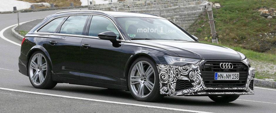 Noul AUDI RS6 Avant scos in premiera in teste. Se vorbeste despre un motor HIBRID pentru break-ul german