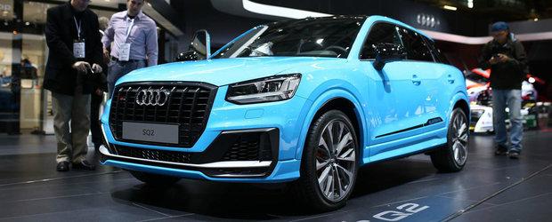 """Noul Audi SQ2 a debutat public la Paris. Cum arata """"pe viu"""" SUV-ul de 300 de cai al nemtilor"""