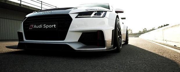 Noul Audi TT primeste o versiune de curse, de 340 CP si 1.125 kg