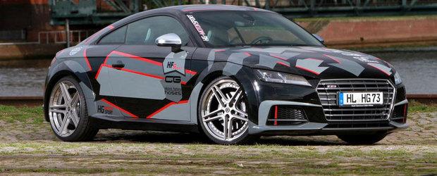 Noul Audi TTS trece pe la HG-Motorsport pentru un camuflaj si cativa cai putere