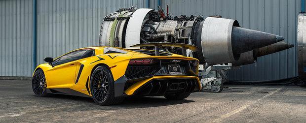 Noul Aventador SV pozeaza printre stele si motoare alaturi de jante custom
