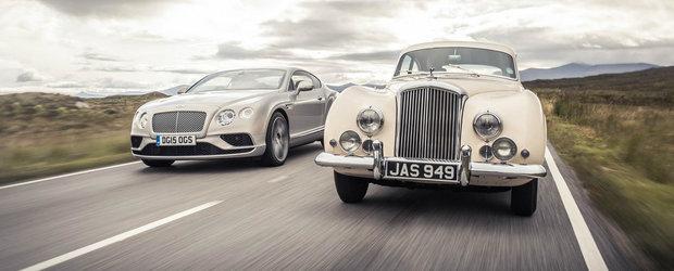 Noul Bentley Continental GT isi intalneste stramosul intr-un clip despre lux si viteza