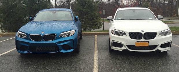 Noul BMW M2 pozeaza in compania vechiului M235i. Care arata mai bine?