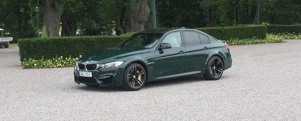 Noul BMW M3 pozeaza in nuanta British Racing Green. Cum ti se pare?