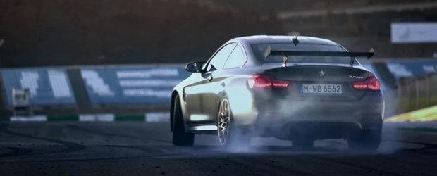 Noul BMW M4 GTS incinge pneurile in primul spot oficial