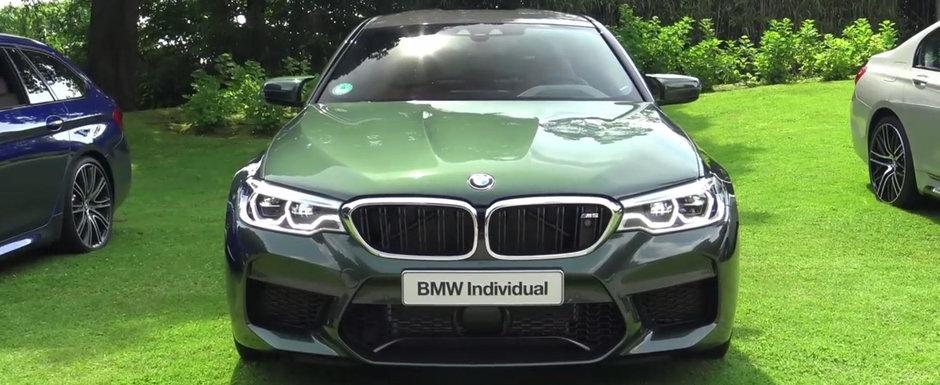 Noul BMW M5, asa cum o sa il mai vezi niciodata. Sedanul bavarez a fost vopsit in verde din fabrica