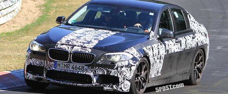 Noul BMW M5 surprins aproape necamuflat!