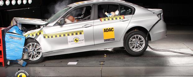 Noul BMW Seria 3 primeste punctaj maxim la testele de impact Euro NCAP