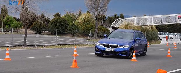 Noul BMW Seria 3 Touring impresioneaza la testul elanului. VIDEO cu incercarea modelului bavarez