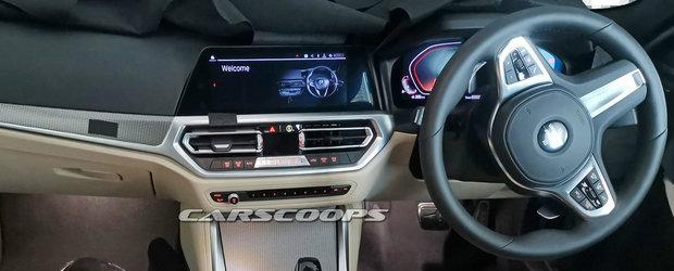 Noul BMW Seria 4 a ajuns mai devreme pe internet. Automobilul bavarez are doua ecrane uriase la interior