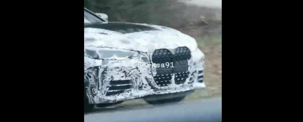 Noul BMW Seria 4, in cele mai clare imagini de pana acum. Coupe-ul bavarez are o grila uriasa