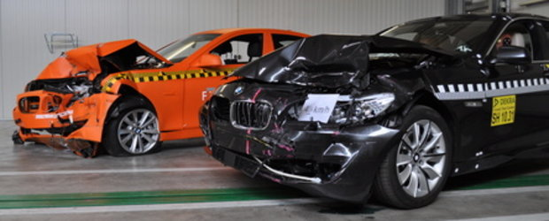 Noul BMW Seria 5 trece primul sau crash test