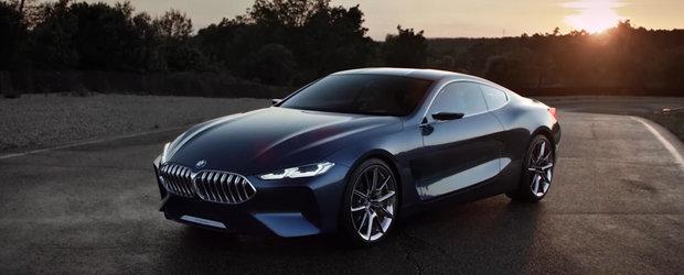 Noul BMW Seria 8 Concept isi arata formele si display-ul digital de bord in prima reclama oficiala