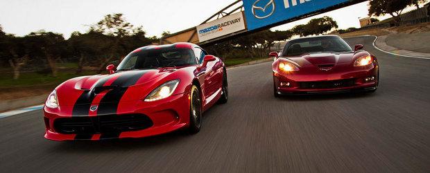 Noul Dodge Viper GTS si ultimul Chevrolet Corvette ZR1 se intrec la Laguna Seca