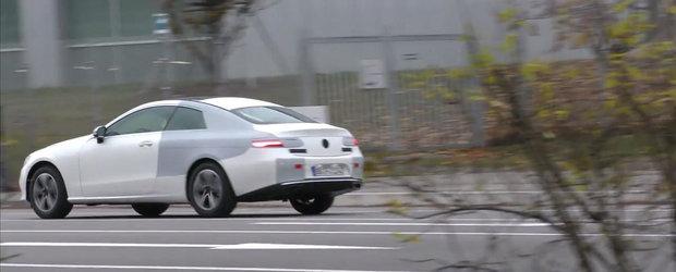 Noul E-Class Coupe, surprins aproape necamuflat pe strazile Germaniei