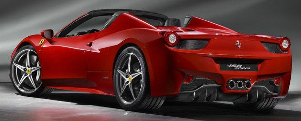 Noul Ferrari 458 Spider - V8, 570 cai putere si hard top pliabil
