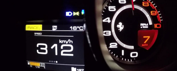 Noul Ferrari 488 GTB goneste prin linistea noptii cu 312 kilometri pe ora