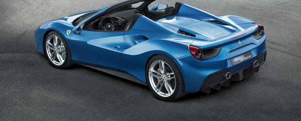 Noul Ferrari 488 Spider debuteaza oficial, ofera 660 CP si un design super-sexy