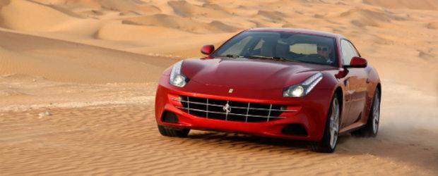 Noul Ferrari FF pozeaza in desert, ne invita la interior