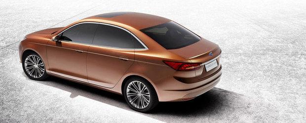 Noul Ford Escort, dezvaluit in cadrul Salonului Auto de la Shanghai