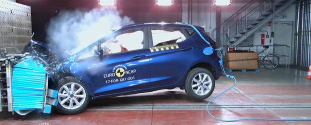 Noul Ford Fiesta i-a surprins chiar si pe specialistii Euro NCAP. A primit 5 stele cu felicitari