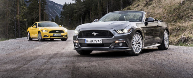 Noul Ford Mustang ni se arata in toata gloria sa. ACUM si in versiunea europeana