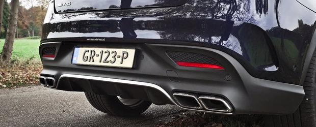 Noul GLE63 S Coupe abuzeaza de V8-ul din dotare. Pentru placerea noastra auditiva.