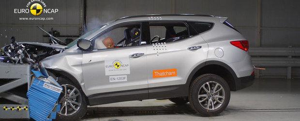 Noul Hyundai Santa Fe a obtinut cinci stele la testele de impact Euro NCAP