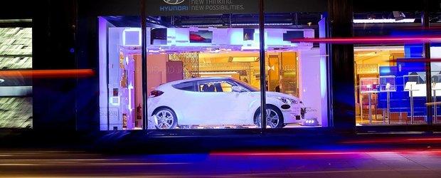 Noul Hyundai Veloster parcheaza in magazinul Harrods