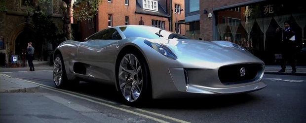 Noul Jaguar C-X75 isi face aparitia pe strazile din Londra - VIDEO!