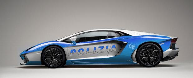 Noul Lambo Aventador imbraca uniforma de politist