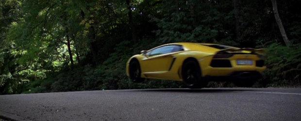 Noul Lamborghini Aventador isi ia zborul, LA PROPRIU, in testul Autocar!