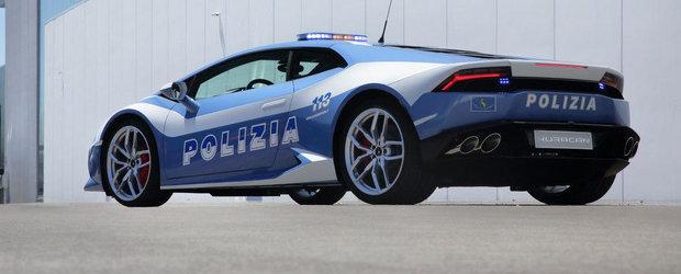 Noul Lamborghini Huracan LP610-4 se alatura Politiei din Italia