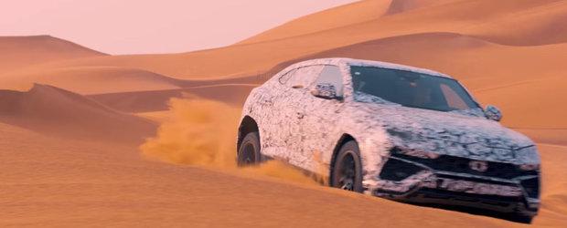 Noul Lamborghini Urus: primul super SUV al lumii cucereste desertul in cel mai proaspat VIDEO