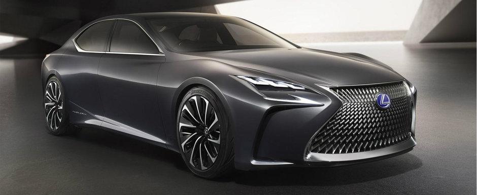 Noul Lexus LF-FC prefigureaza urmatoarea generatie a limuzinei LS