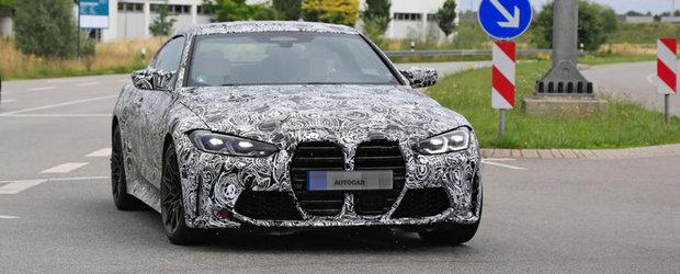 Noul M4 Coupe, surprins in cele mai clare imagini de pana acum. Fanii BMW vor plange la vederea grilei frontale