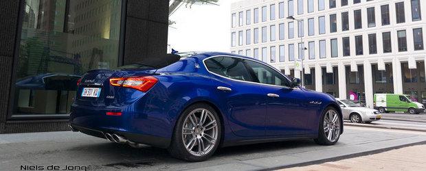 Noul Maserati Ghibli, surprins in 'carne si oase' pe strazile din Rotterdam