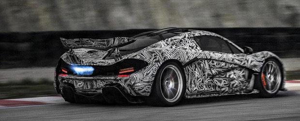 Noul McLaren P1 iese pe circuit, ne intampina cu flacari si actiune