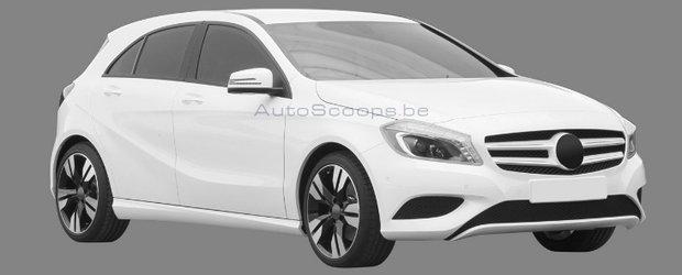 Noul Mercedes A-Class: Primele imagini si-au facut aparitia pe internet